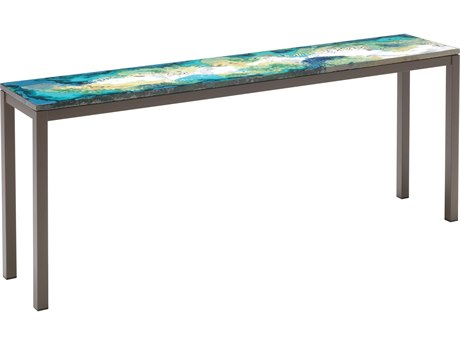 Seasonal Living Etna Ocean Collision Steel 71''W x 14''D Rectangular Console Table