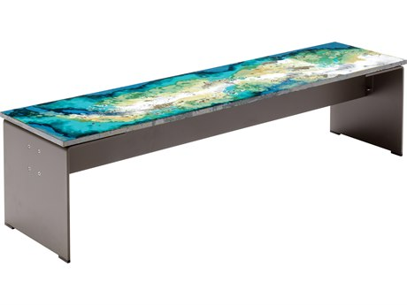 Seasonal Living Etna Ocean Collision Steel Bench