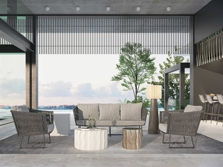 Seasonal Living Archipelago Aluminum Dark Gray Orion Lounge Set PatioLiving