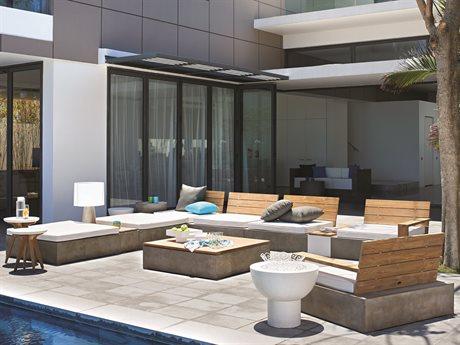 Seasonal Living Perpetual Millenia Concrete Lounge Set