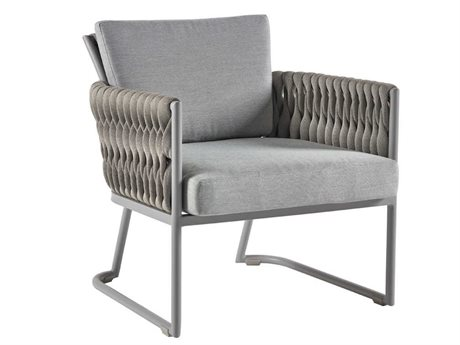 Sifas Basket Mat Grey Aluminum Cushion Lounge Chair PatioLiving