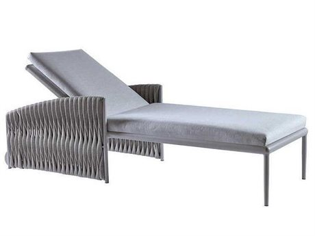 Sifas Basket Mat Grey Aluminum Cushion Chaise Lounge PatioLiving