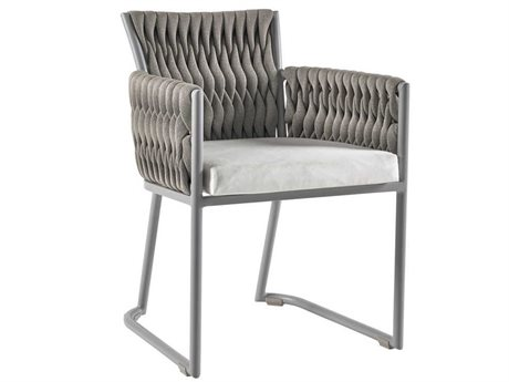 Sifas Basket Mat Grey Aluminum Cushion Dining Chair