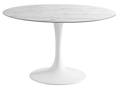 Sifas Korol 66'' Wide Aluminum Round Dining Table PatioLiving