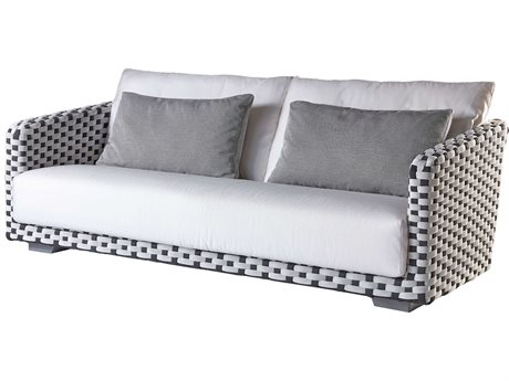 Sifas Riviera Black / White Fabric Strap Sofa