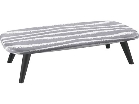 Sifas Riviera Grey / White 59'' Wide Aluminum Rectangular Coffee Table PatioLiving