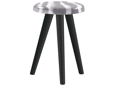 Sifas Riviera Grey / White 15'' Wide Aluminum Round End Table