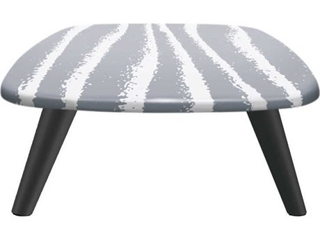 Sifas Riviera Grey / White 43'' Wide Aluminum Square Coffee Table