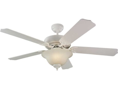 Sea Gull Lighting Quality Max Plus White Two-Light Fluorescent Energy Star 52'' Wide Indoor Ceiling Fan