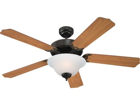 Sea Gull Lighting Quality Max Plus Heirloom Bronze Two-Light Fluorescent Energy Star 52'' Wide Indoor Ceiling Fan
