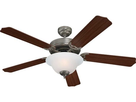 Sea Gull Lighting Quality Max Plus Brushed Nickel Two-Light Fluorescent Energy Star 52'' Wide Indoor Ceiling Fan