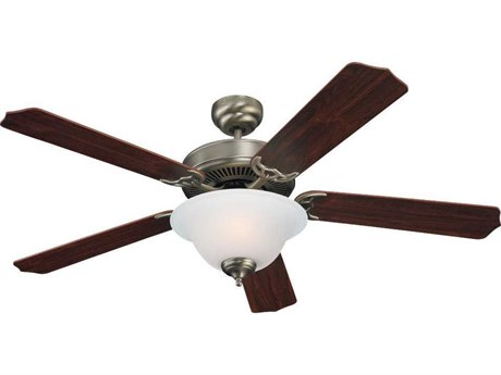 Sea Gull Lighting Quality Max Plus Antique Brushed Nickel Two-Light Fluorescent Energy Star 52'' Wide Indoor Ceiling Fan