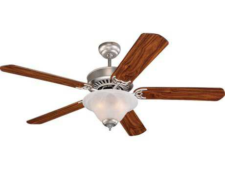 Sea Gull Lighting Quality Pro Deluxe Brushed Pewter Three-Light 52'' Wide Indoor Ceiling Fan