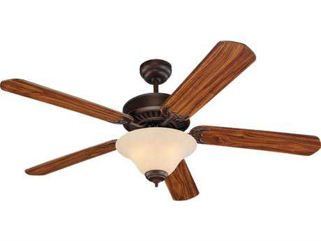 Sea Gull Lighting Quality Pro Deluxe Roman Bronze Three-Light 52'' Wide Indoor Ceiling Fan