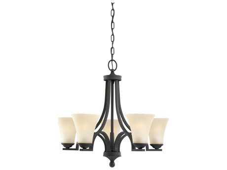 Sea Gull Lighting Somerton Blacksmith Five-Light 24.75'' Wide Chandelier