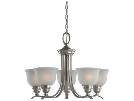 Sea Gull Lighting Wheaton Brushed Nickel Five-Light 24'' Wide Mini-Chandelier