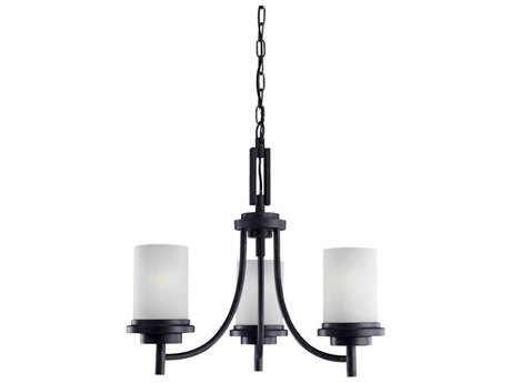 Sea Gull Lighting Winnetka Blacksmith Three-Light 21'' Wide Fluorescent Mini-Chandelier