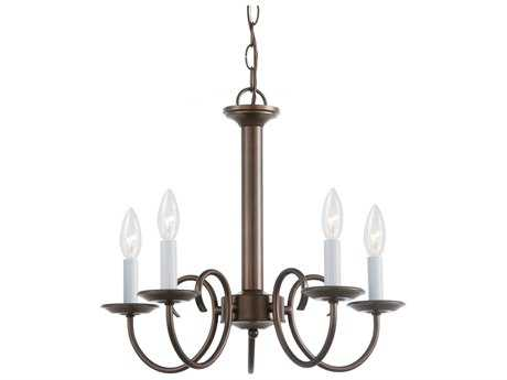 Sea Gull Lighting Holman Bell Metal Bronze Five-Light 18'' Wide Mini-Chandelier