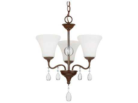 Sea Gull Lighting West Town Burnt Sienna Three-Light 16.63'' Wide Mini-Chandelier