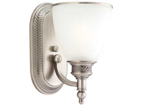 Sea Gull Lighting Laurel Leaf Antique Brushed Nickel Wall Sconce