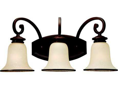 Sea Gull Lighting Acadia Misted Bronze Three-Light Vanity Light