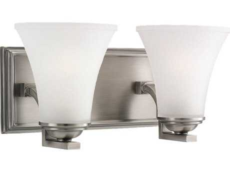 Sea Gull Lighting Somerton Antique Brushed Nickel Two-Light Wall Sconce
