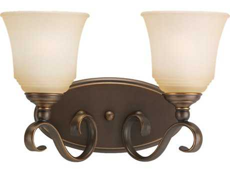 Sea Gull Lighting Parkview Russet Bronze Two-Light Wall Sconce