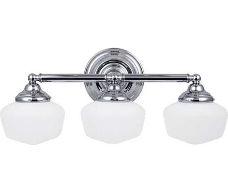 Sea Gull Lighting Academy Chrome Three-Light Fluorescent Vanity Light