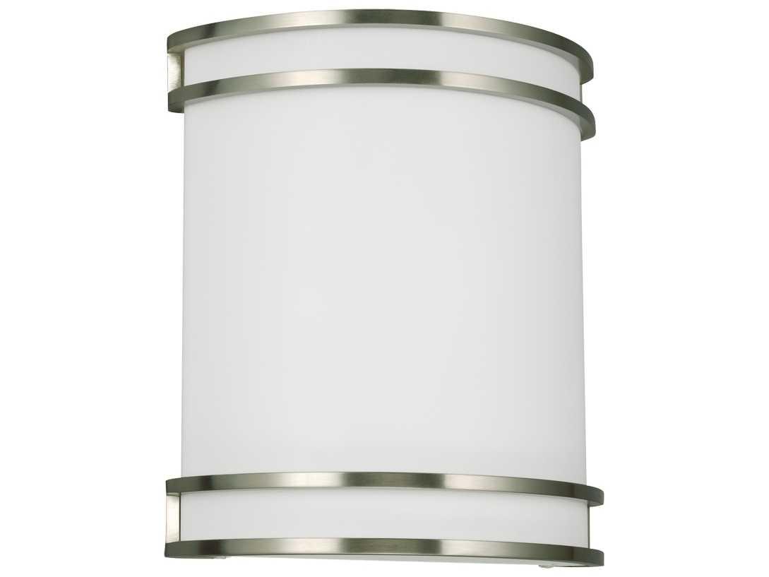 Sea Gull Lighting 44236 962 2 Light Brushed Nickel: Sea Gull Lighting ADA Brushed Nickel Two-Light Wall Sconce