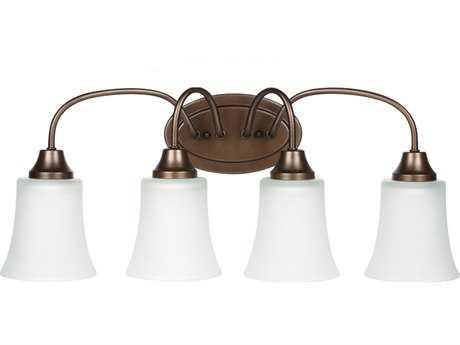 Sea Gull Lighting Holman Bell Metal Bronze Four-Light Fluorescent Vanity Light