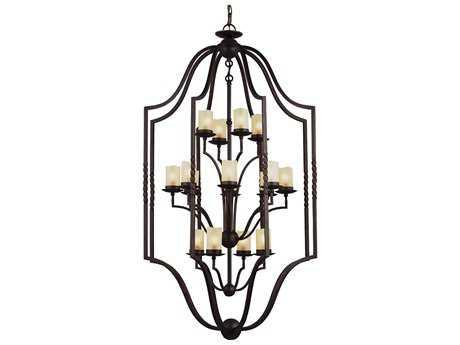 Sea Gull Lighting Trempealeau Roman Bronze 16-Light 34'' Wide Foyer Pendant