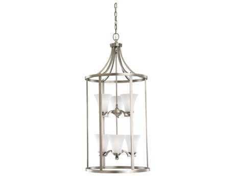 Sea Gull Lighting Somerton Antique Brushed Nickel Six-Light 19'' Wide Foyer Pendant