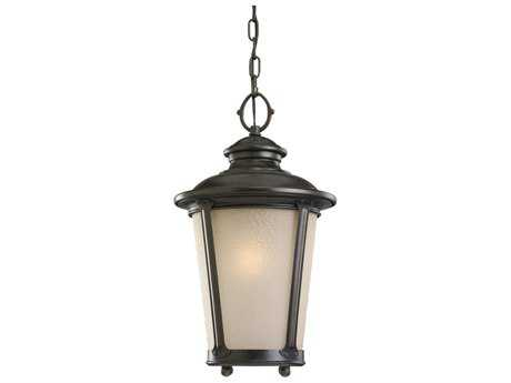 Sea Gull Lighting Cape May Burled Iron LED Outdoor LED Outdoor Hanging Light