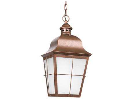Sea Gull Lighting Chatham Weathered Copper LED Outdoor LED Outdoor Hanging Light