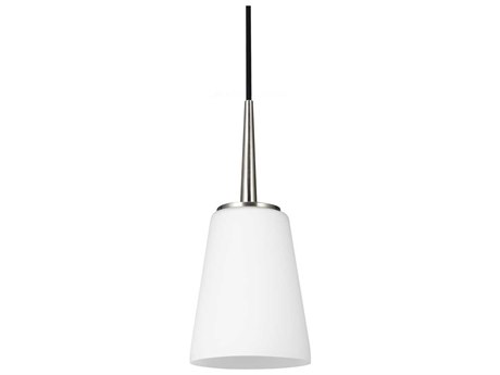 Sea Gull Lighting Driscoll Brushed Nickel 5.25'' Wide Fluorescent Mini-Pendant