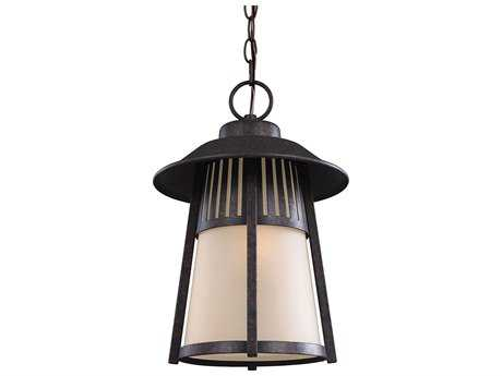 Sea Gull Lighting Hamilton Heights Oxford Bronze 11'' Wide Outdoor Hanging Light
