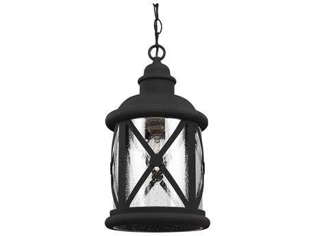 Sea Gull Lighting Lakeview Black 8.38'' Wide Outdoor Hanging Light