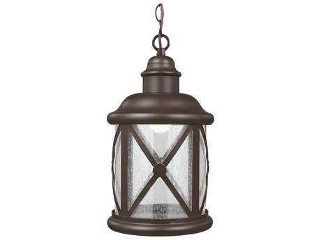 Sea Gull Lighting Lakeview Antique Bronze 8.38'' Wide LED Outdoor Hanging Light