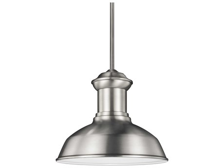 Sea Gull Lighting Fredricksburg Satin Aluminum 11.31'' Wide CFL Outdoor Pendant Light