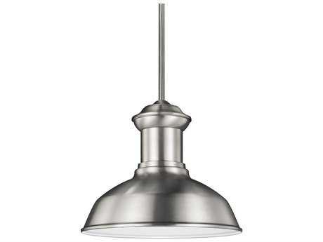 Sea Gull Lighting Fredricksburg Satin Aluminum 11.31'' Wide LED Outdoor Pendant Light