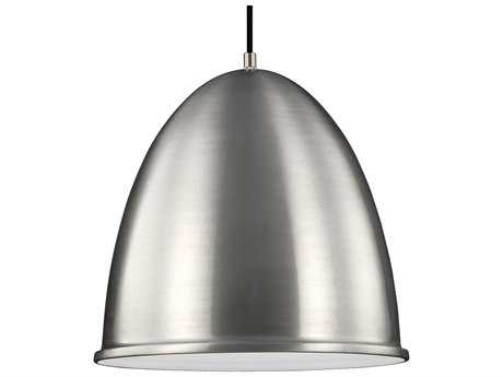Sea Gull Lighting Hudson Street Satin Aluminum 15.75'' Wide LED Pendant