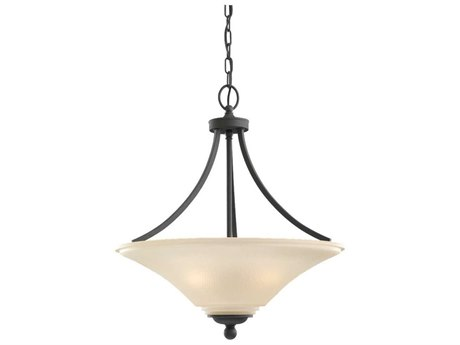 Sea Gull Lighting Somerton Blacksmith Three-Light 20.5'' Wide Fluorescent Pendant