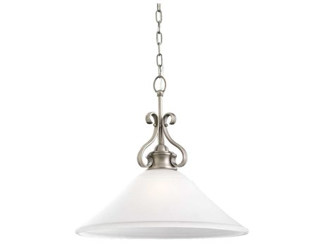 Sea Gull Lighting Parkview Antique Brushed Nickel 19'' Wide Fluorescent Pendant