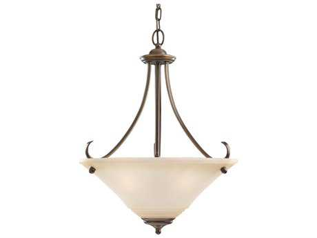 Sea Gull Lighting Parkview Russet Bronze Three-Light 20'' Wide Pendant
