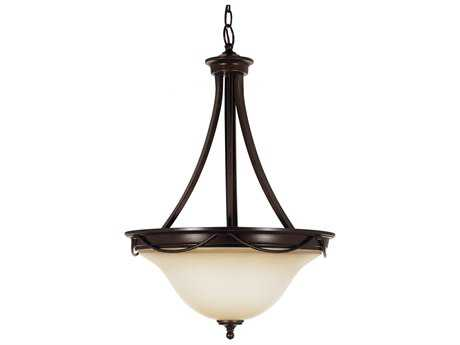 Sea Gull Lighting Park West Burnt Sienna Three-Light 18'' Wide Pendant