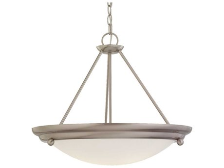Sea Gull Lighting Centra Brushed Stainless Three-Light 21.25'' Wide Fluorescent Convertible Semi-Flush Mount Light