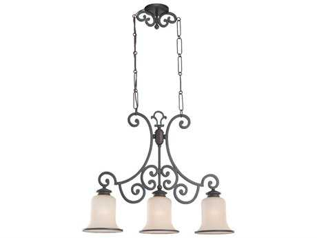 Sea Gull Lighting Acadia Misted Bronze Three-Light 28.75'' Wide Energy Star Island Light