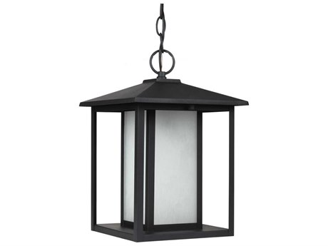 Sea Gull Lighting Hunnington Black Fluorescent Outdoor Hanging Light