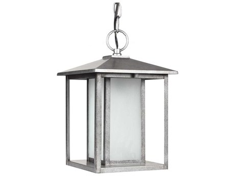 Sea Gull Lighting Hunnington Weathered Pewter Fluorescent Outdoor Hanging Light