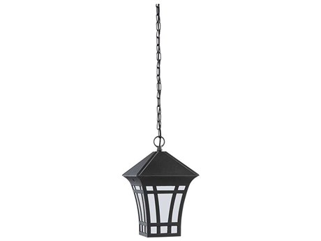 Sea Gull Lighting Herrington Black Fluorescent Outdoor Hanging Light
